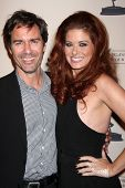 LOS ANGELES - OCT 7:  Eric McCormack, Debra Messing at the An Evening with James Burrows at Academy of Television Arts and Sciences on October 7, 2013 in North Hollywood, CA