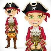 Cute Boy Dressed As Pirate Trick Or Treat.jpg