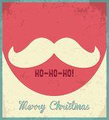 Santa's mustache.  Christmas card.