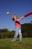 Girl Playing Rounders