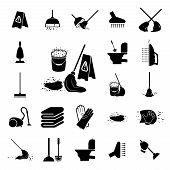 pic of plunger  - Icons set Cleaning - JPG