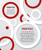 Red And White Abstract Banners On Gray Background, Vector