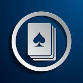 Vector illustration of a stylized playing card