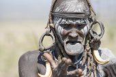 Mursi Woman With A Strange Lip Plate