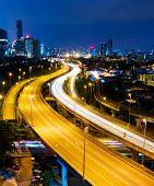 foto of klcc  - Kuala Lumpur skyline at night - JPG