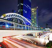 Bangkok cityscape and traffic congestion