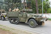Old Half-track Military Vehicle