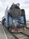 The Blue Express Steam Locomotive