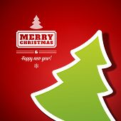 picture of applique  - Christmas tree applique vector background - JPG