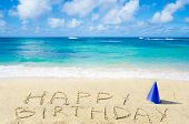 foto of birthday hat  - Sign  - JPG