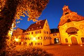 Town of Fussen at twilight. Germany