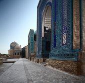Oriental complex Shah i Zinda. Samarkand, Uzbekistan