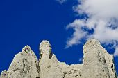 Sandstone Cliffs On Blue Sky
