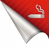 Cigar smoking corner icon