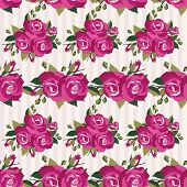 Pink pattern with roses inflorescence