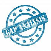 Blue Weathered Gap Analysis Stamp Circles And Stars