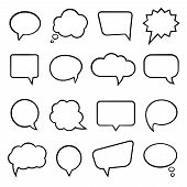 Speech bubbles for infographics