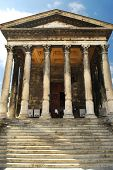 Roman temple Maison Carree in city of Nimes in southern France
