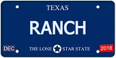 Ranch Texas Imitation License Plate