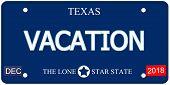 Vacation Texas Imitation License Plate
