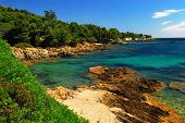 Scenic view of Mediterranean coast of French Riviera