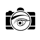 Digital Camera with an eye- photography icon