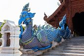 Elephant Fusion Swan Staircase In Wat Banden, Chiangmai Thailand