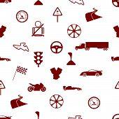 automotive icon pattern eps10