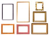 Collection Of Isolated Picture Frames