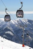 Modern cableway in ski resort Jasna - Low Tatras mountains, Slovakia