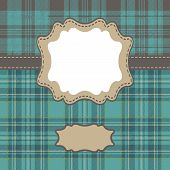 Men's Design Template With Tartan