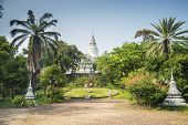 Wat Phnom Landmark In Phnom Penh Cambodia