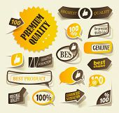 collection premium and high quality Labels, sign quality and satisfaction in the form of stickers