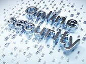 Privacy concept: Silver Online Security on digital background