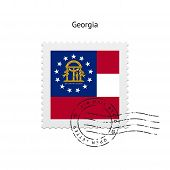 State of Georgia flag postage stamp.