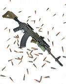 stock photo of ak-47  - A tactical AK - JPG