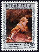 Postage Stamp Nicaragua 1984 Noli Me Tangere, Detail