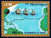 Postage Stamp Nicaragua 1982 Trans-atlantic Voyage