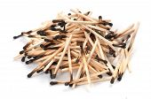 Pile Of Used Matches