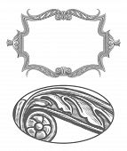 Ornate frame in vintage engraving style