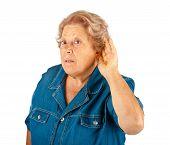 Elderly Woman, Hearing Problems
