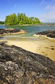 View from Long Beach in Pacific Rim National park, Canada