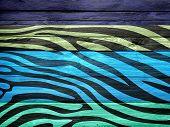 Zebra Print Wood Texture Background