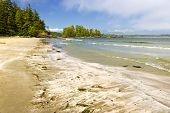stock photo of pacific rim  - Long Beach in Pacific Rim National park - JPG