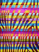 Wood Vintage Wood Colorful Zebra Print Background