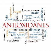 Antioxidants Word Cloud Concept