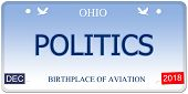 Politics Ohio Imitation License Plate