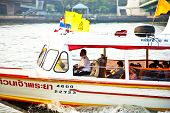 People In A Public Ferry On River Mae Nam Chao Phraya