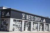 Nets Lifestyle Shop by Adidas at Coney Island, New York.