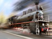 Locomotive In Motion Blur